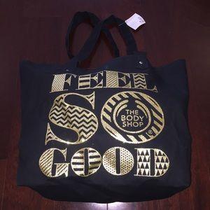 NEW The Body Shop GLITTER TOTE Bag Purse Handbag
